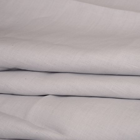 Gray Plain Indian Linen Fabric-90020