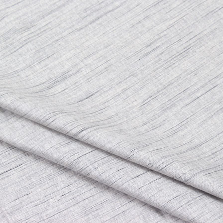 Gray Plain Linen Cotton Fabric-40619