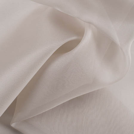 Gray Plain Organza Silk Fabric-51780