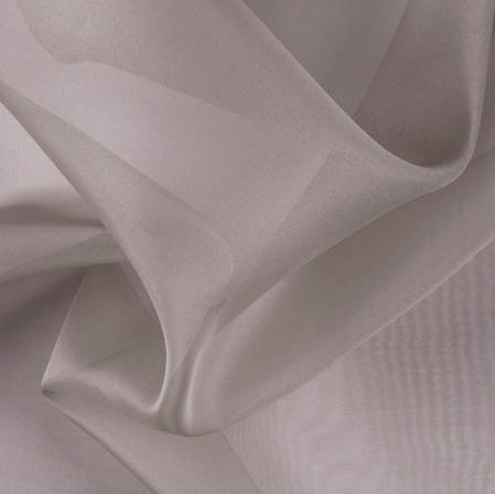 Gray Plain Organza Silk Fabric-51782