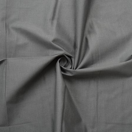 Gray Plain Slub Cotton Handloom Fabric-40215