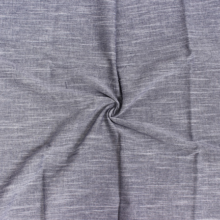 Gray Plain Slub Samray Handloom Fabric-40019