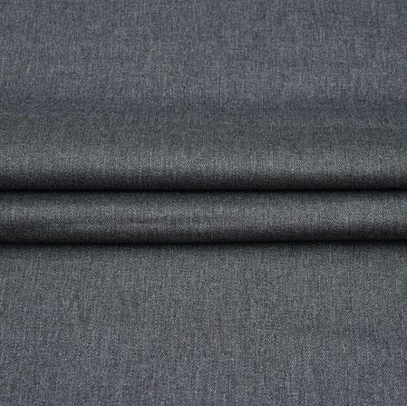 Men Unstitched Trouser (1.2 MTR)-Gray Plain Cotton Wool Fabric-42187