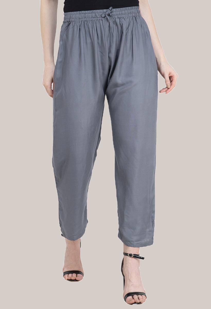 Gray Rayon Pant-33484