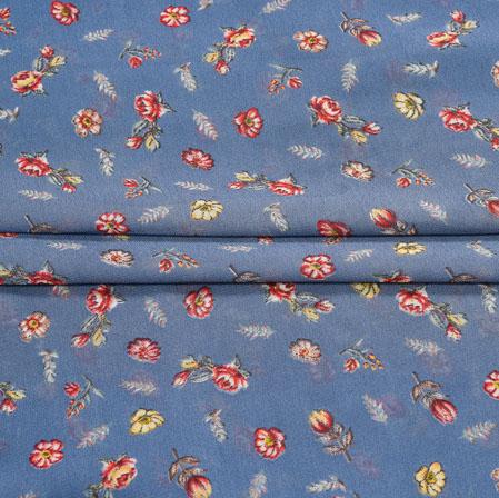 Gray Red Digital Flower Print Georgette Fabric-41209