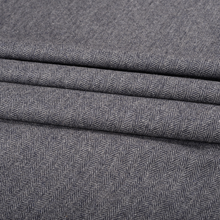 Pure Wool Blazer Fabric (2 MTR)  - Gray Tweed Wool-40299