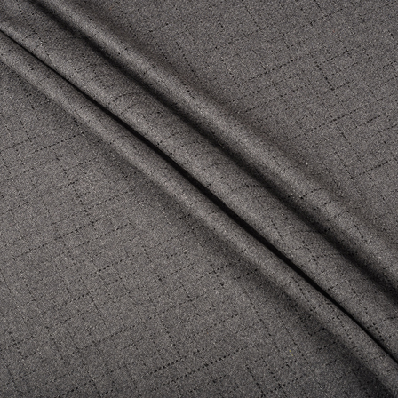 Pure Wool Blazer Fabric (2 MTR)  - Gray Tweed Wool-40300