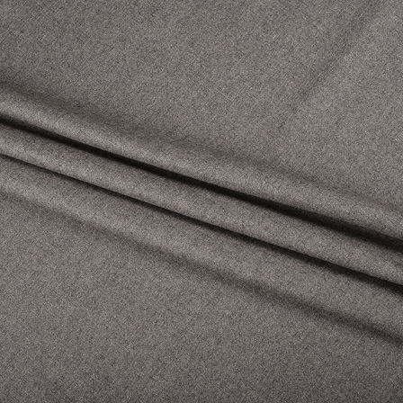 Pure Wool Blazer Fabric (2 MTR)  - Gray Tweed Wool-40301