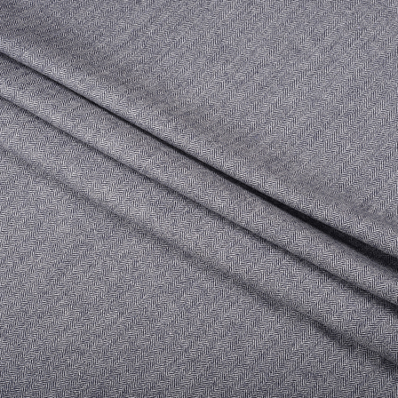 Gray Tweed Wool Fabric-40302