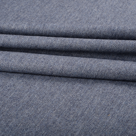 Pure Wool Blazer Fabric (2 MTR)  - Gray Tweed Wool-40303