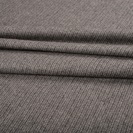 Gray Tweed Wool Fabric-40306