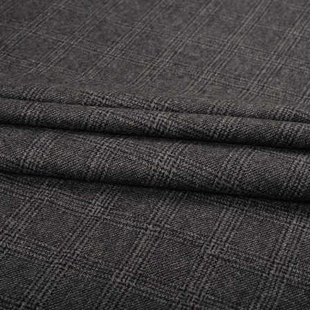 Gray Tweed Wool Fabric-40307