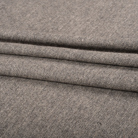 Gray Tweed Wool Fabric-40308