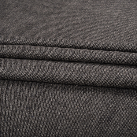 Gray Tweed Wool Fabric-40309