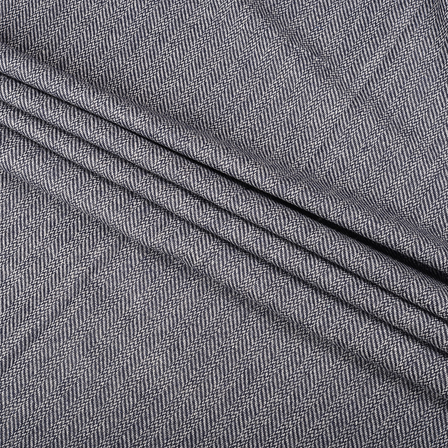 Pure Wool Blazer Fabric (2 MTR)  - Gray Tweed Wool-40316