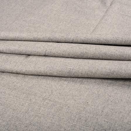 Gray Tweed Wool Fabric-40318