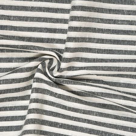 Gray White Striped Handloom Cotton Fabric-40810