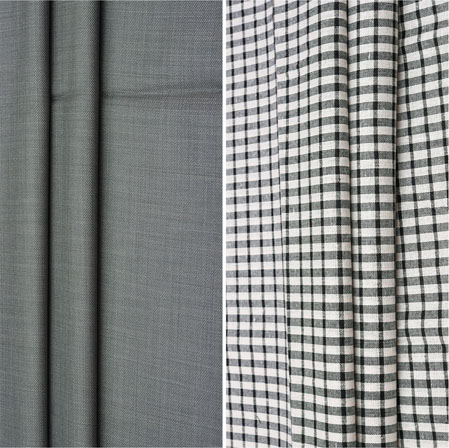 Combo Set Shirt and Trouser-Gray White and Black-42095