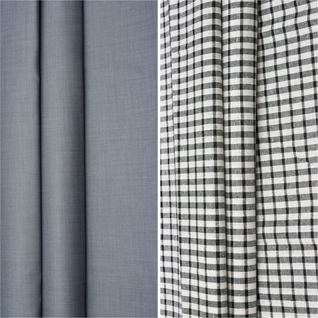 Combo Set Shirt and Trouser-Gray White and Black-42148
