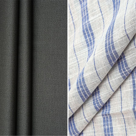 Combo Set Shirt and Trouser-Gray White and Blue-42254