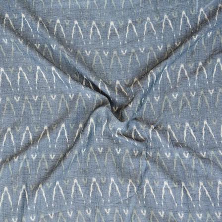 Gray White ikat two tone Rayon Fabric-15192