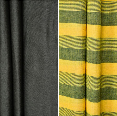 Combo Set Shirt and Trouser-Gray Yellow and Green-42238
