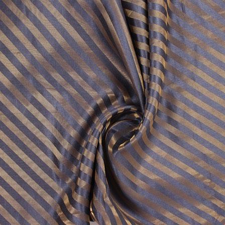 Gray and Golden Brocade Silk Fabric-8878