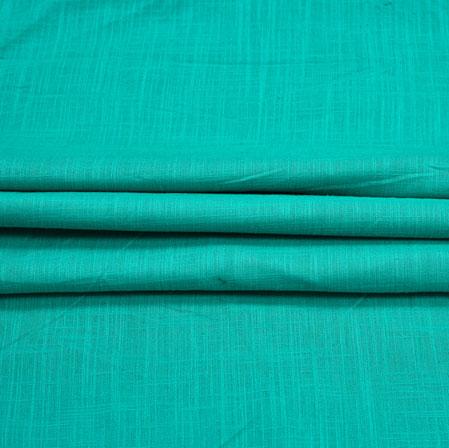 Green Plain Handloom Cotton Fabric-41026