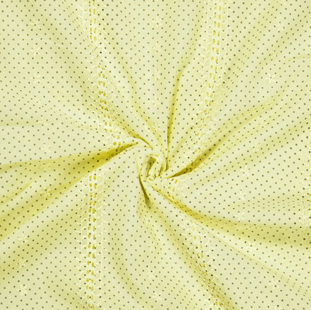 Green Brown Dots Cotton Embroidery Fabric-28290