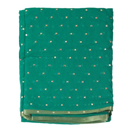 Green Chiffon Fabric-29088