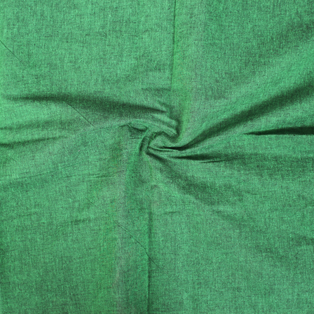 Green Cotton Samray Handloom Khaki Fabric-40067