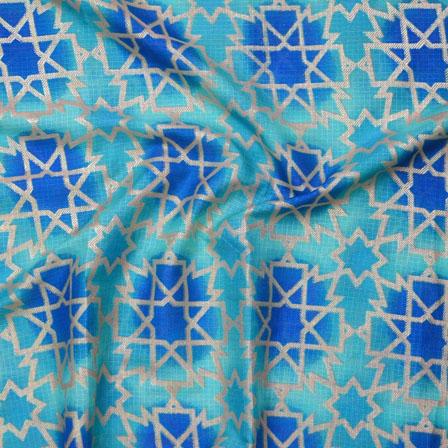 Green Golden Kota Doria Fabric-25122
