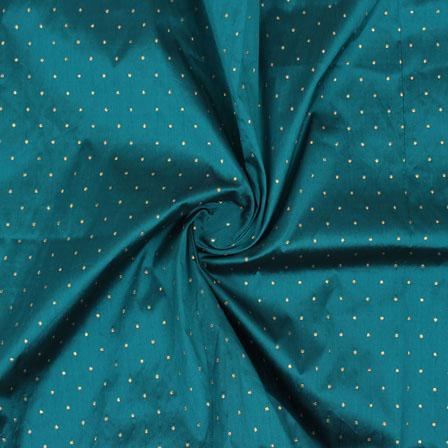 Green Golden Polka Taffeta Silk Fabric-9088