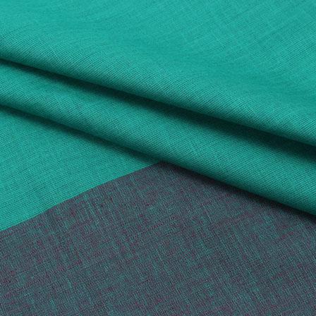 Cotton Shirt (2.25 Meter)-Green Gray Striped Handloom Khadi-140718