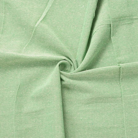Green Handloom Cotton Khadi Fabric-40159