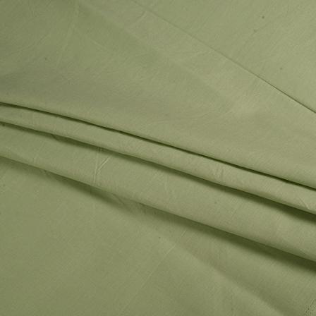 Khadi Shirt (2.25 Meter) Fabric-Green Handloom Cotton -140355