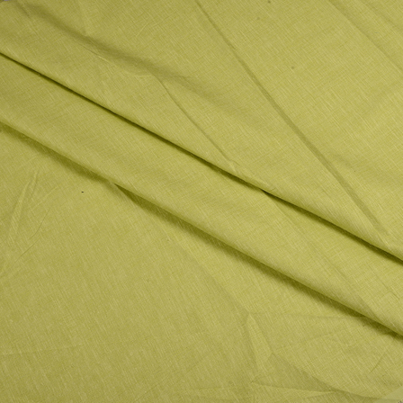 Green Indian Cotton Linen Shirt Fabric-90066
