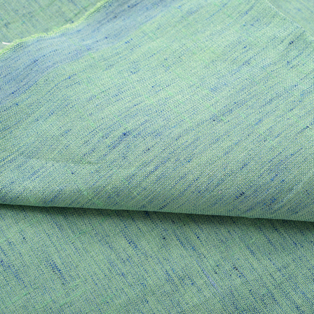 Green Pain Two Ton Indian Linen Fabric-40224