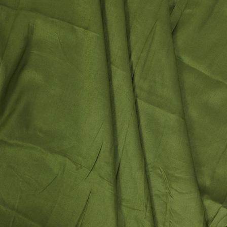 Green Plain Handloom Cotton Rayon Fabric-40103