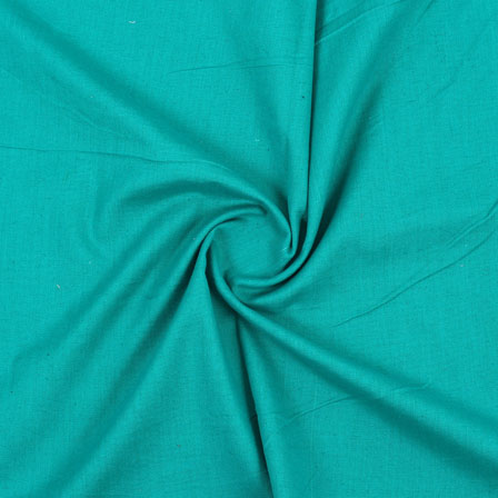 Green Plain Handloom Cotton Fabric-40497