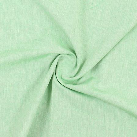Green Plain Handloom Khadi Cotton Fabric-40500
