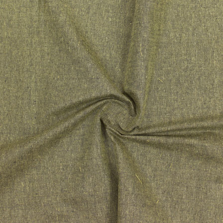 Green Plain Handloom Khadi Cotton Fabric-40669