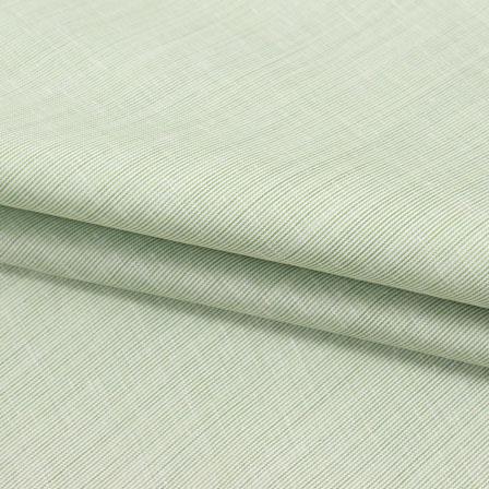 Cotton Shirt (2.25 Meter)-Green Plain Handloom Khadi-140675