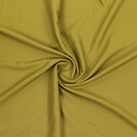 Green Plain Rayon Fabric-40696