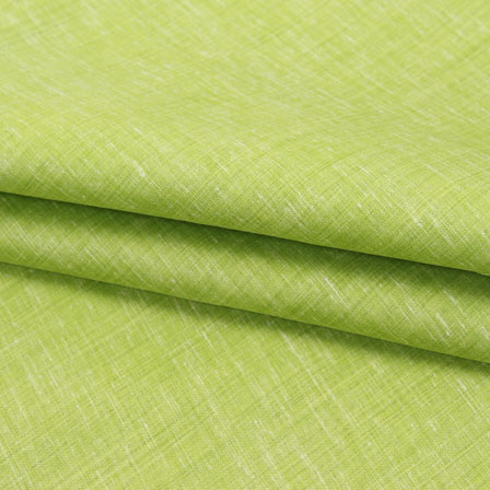 Green Plain Linen Cotton Fabric-40644