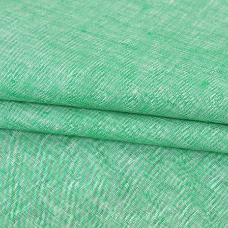 Green Plain Linen Fabric-90089