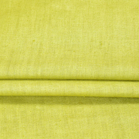 Green Plain Linen Fabric-90153