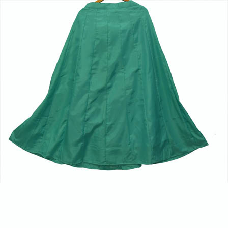 Green Plain Shantoon Skirt-23041