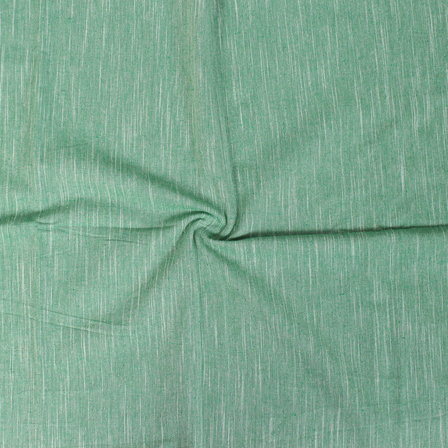 Green Plain Slub Samray Handloom Fabric-40083