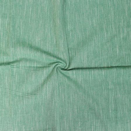 Green Plain Slub Samray Handloom Khadi Fabric-40083